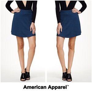 American Apparel Navy Black Hyperion Skater Skirt